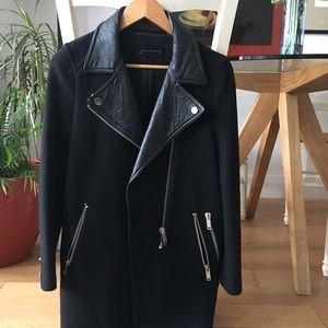 Zara - Black Coat with Leather